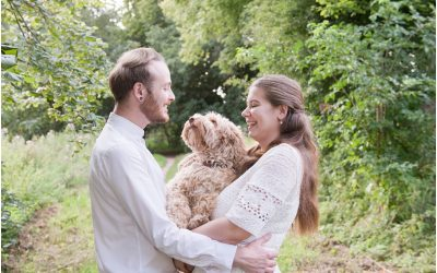Bethany, Joe and Sticky the Pup, Saffron Walden, Essex